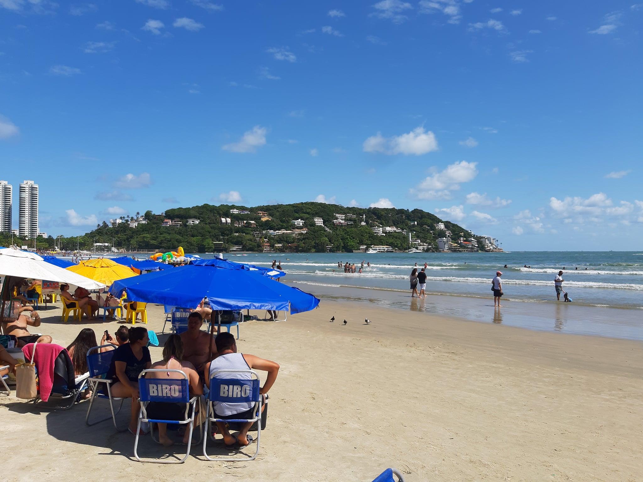 Praia da Enseada, vista Península
