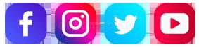 Ícones do Faceboo, Instagram, Tweeter e Youtube